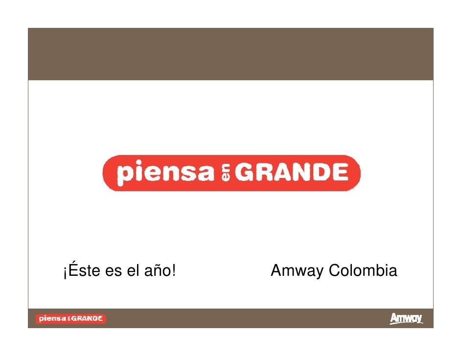 ¡Éste es el año!   Amway Colombia