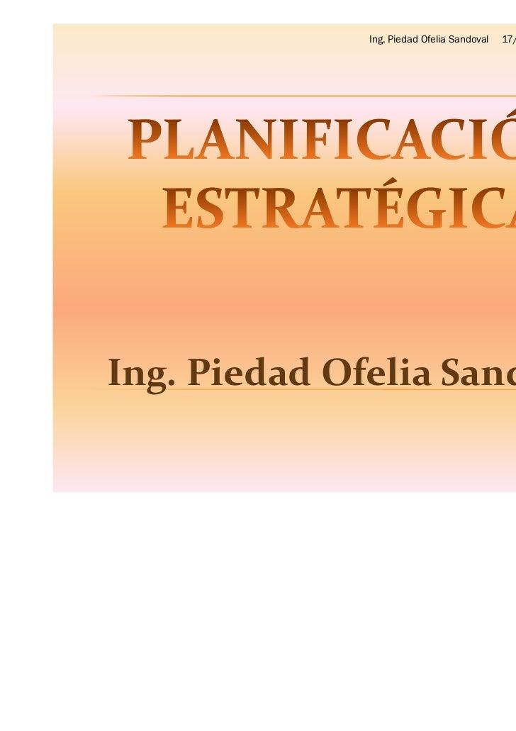 Ing. Piedad Ofelia Sandoval   17/01/2012Ing. Piedad Ofelia Sandoval                                                       ...