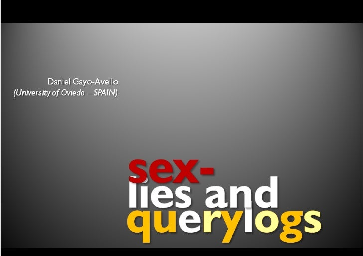 sex, lies and query logs