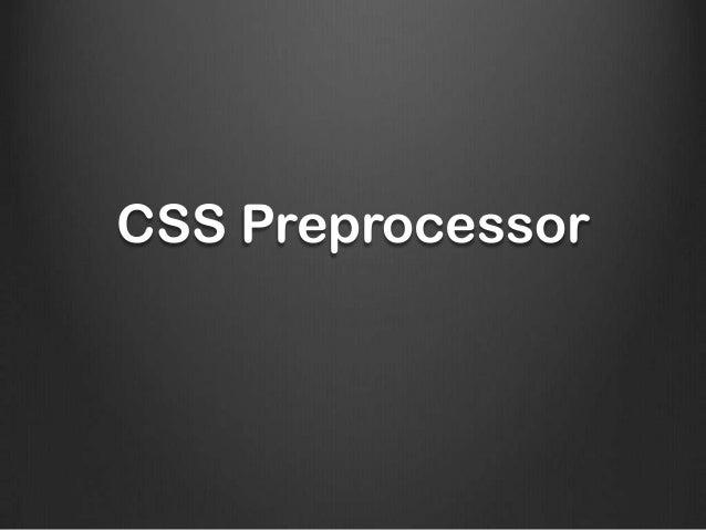 Pre-procesadores CSS. SASS