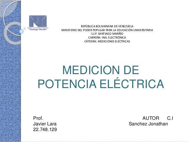 REPÚBLICA BOLIVARIANA DE VENEZUELA MINISTERIO DEL PODER POPULAR PARA LA EDUCACIÓN UNIVERSITARIA I.U.P. SANTIAGO MARIÑO CAR...