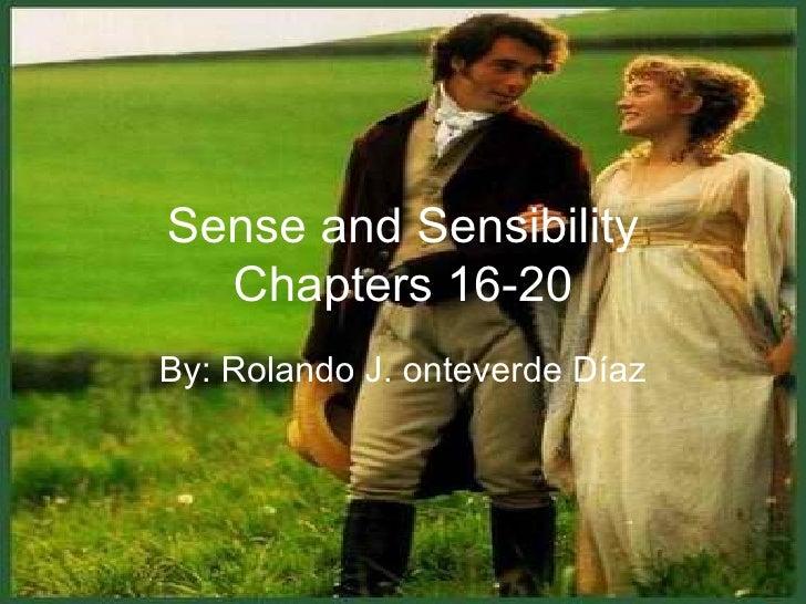 Chapters  XVI-XX Sense and Sensibility
