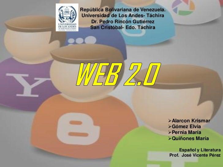 República Bolivariana de Venezuela.Universidad de Los Andes- Táchira    Dr. Pedro Rincón Gutiérrez   San Cristóbal- Edo. T...