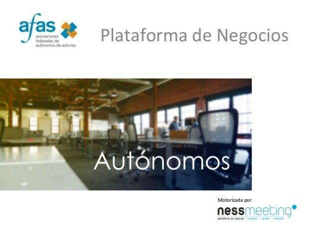 Plataforma de Negocios Motorizada por