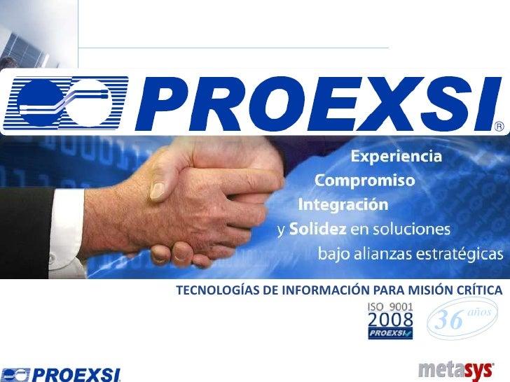 Presentacion Proexsi- Metasys