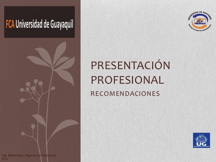 Presentacion profesional jennifer vasquez