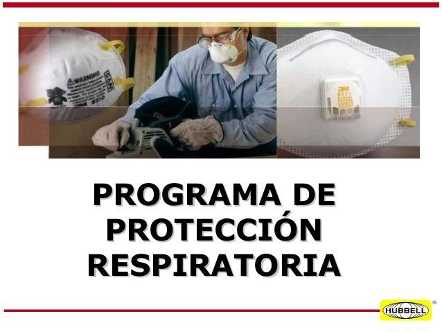 Presentacion programa de proteccion respiratoria