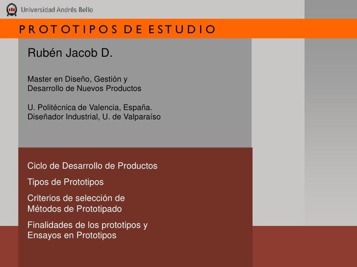 """2006 Presentacion prototipos de estudio - """"Study Prototypes"""" presentation"""