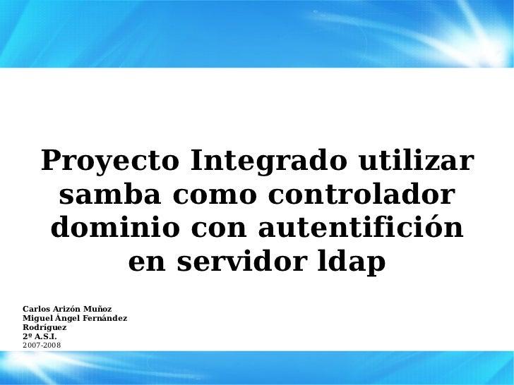 Samba como PDC y autentificación LDAP