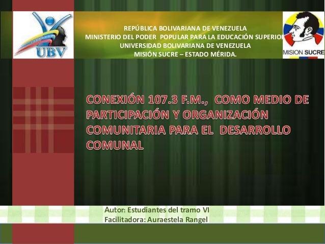EXPO PROYECTO COMUNICACIÓN SOCIAL UBV