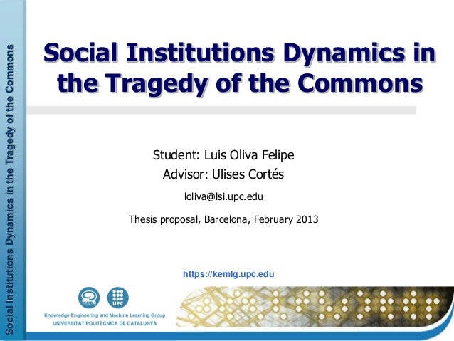 Social Institutions Dynamic in the Tragedy of the Commons