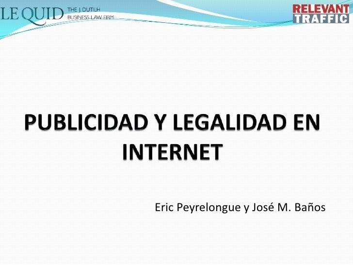 Publicidad y Legalidad en Internet OME_BCN_2011