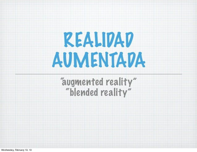 Realidad Aumentada