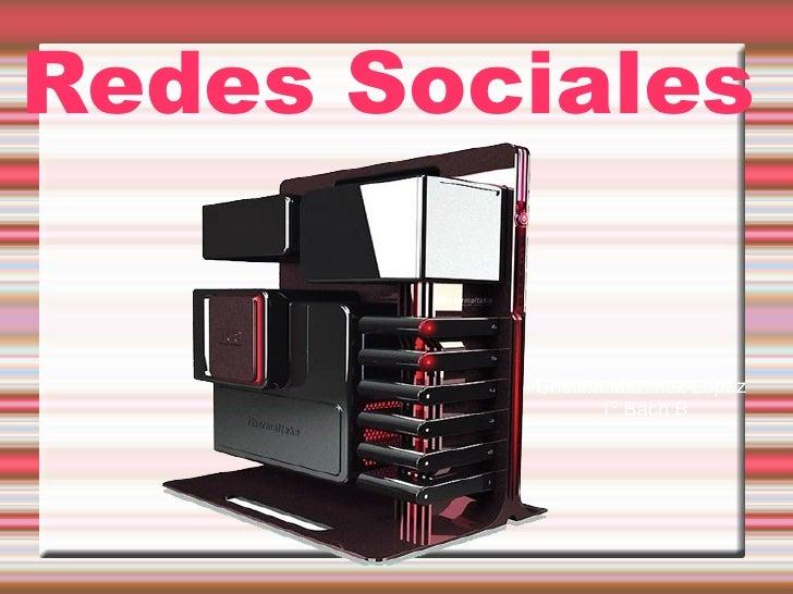 Redes Sociales Cristina Martinez López  1º Bach B