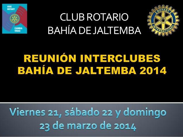 Presentacion reunion interclubes 2014 03-21