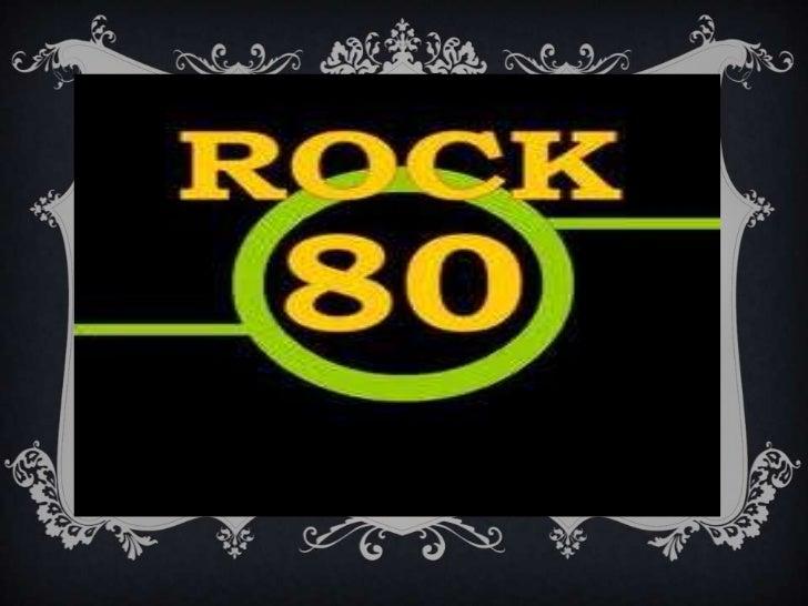 Presentacion rock de los 80