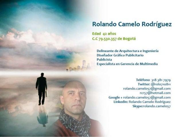 Presentación rolando Camelo Rodríguez - Yo, mi religión, mi cultura
