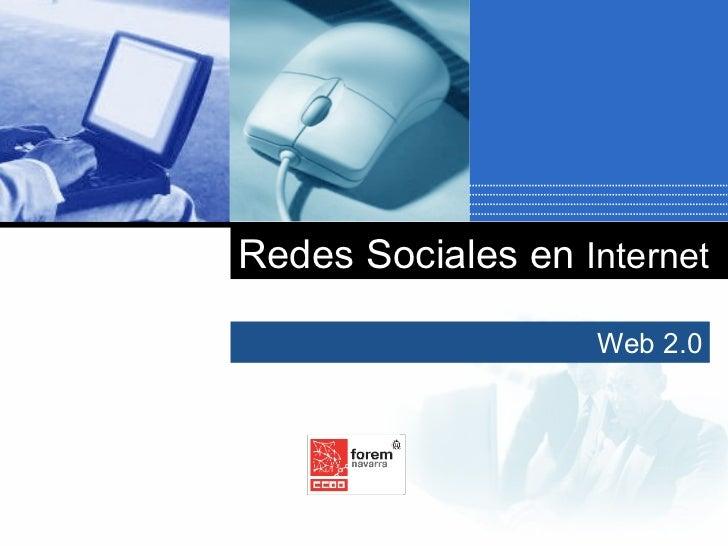 Web 2.0 Redes Sociales en  Internet