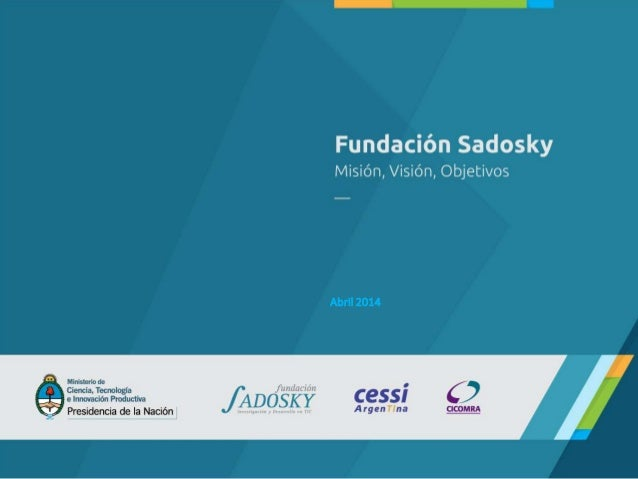 Presentación Institucional - Fundación Sadosky