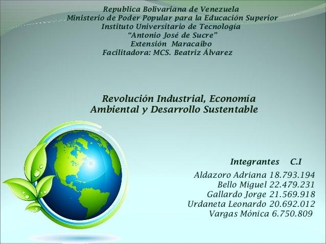 Republica Bolivariana de Venezuela  Ministerio de Poder Popular para la Educación Superior  Instituto Universitario de Tec...