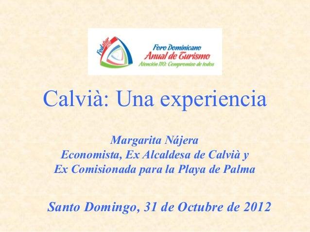 Presentación Margarita Najera - Fodatur 2012 - Día 1