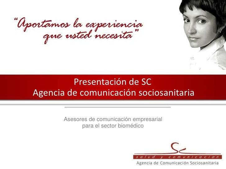 Presentacion corporativa de SC