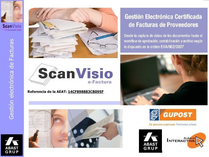 ScanVisio eFactura Automatización de la gestión de facturas de proveedores