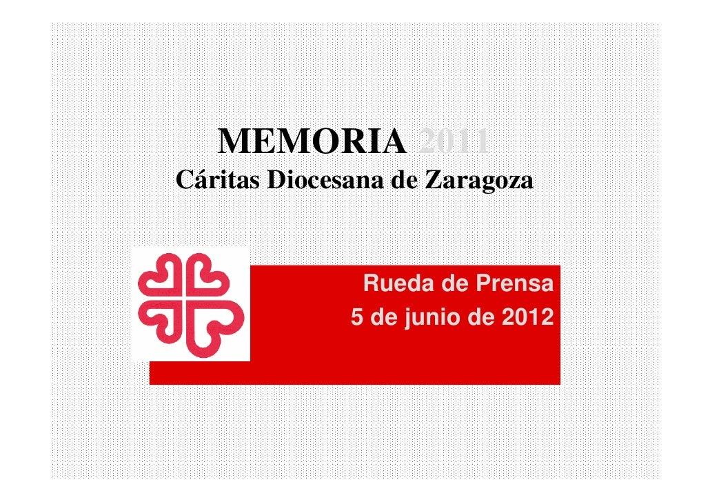 Presentación Memoria 2011