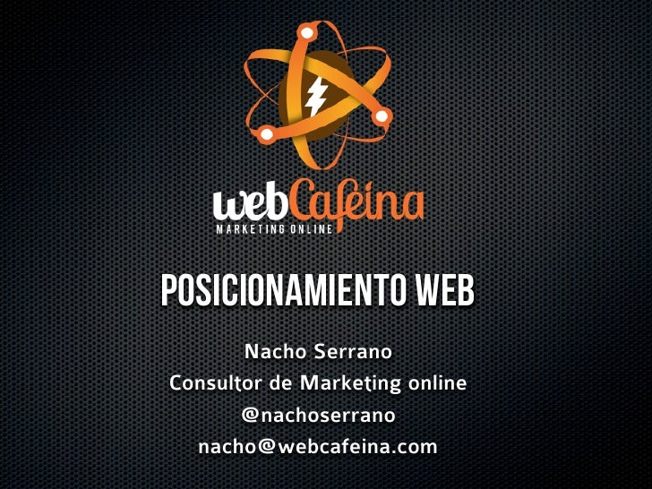 Presentacion posicionamiento web en buscadores