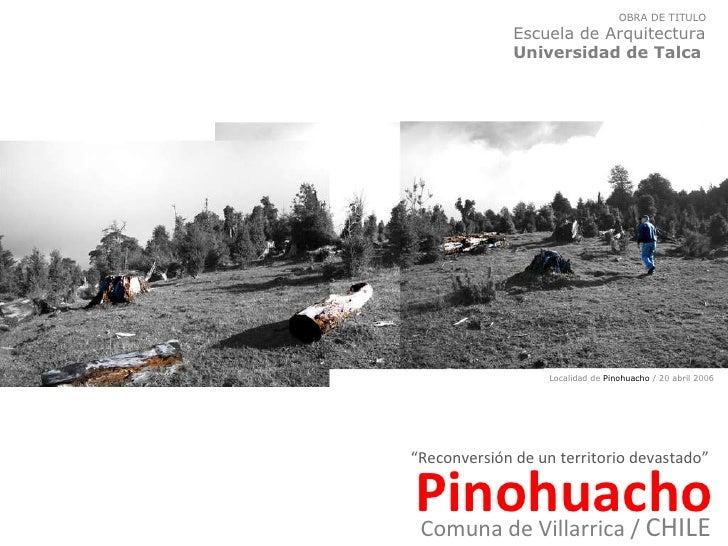 Parador-Mirador en Pinohuacho