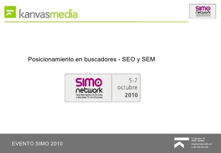 Posicionamiento en buscadores - SIMO 2010