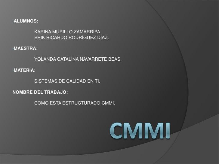 CMMI Y SCAMPI