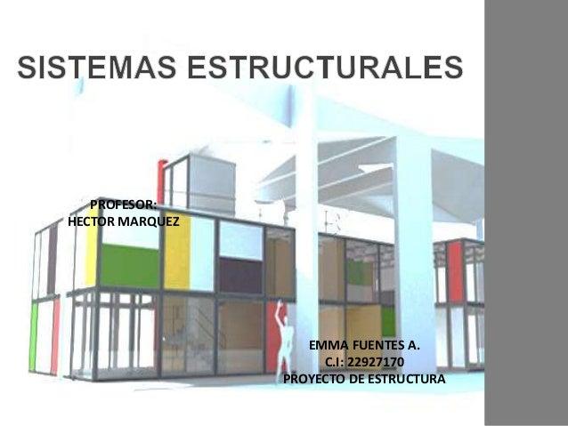 EMMA FUENTES A. C.I: 22927170 PROYECTO DE ESTRUCTURA PROFESOR: HECTOR MARQUEZ