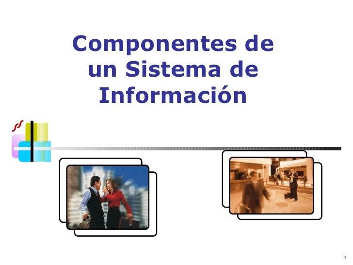 Componentes de un Sistema de Información de Mercadeo