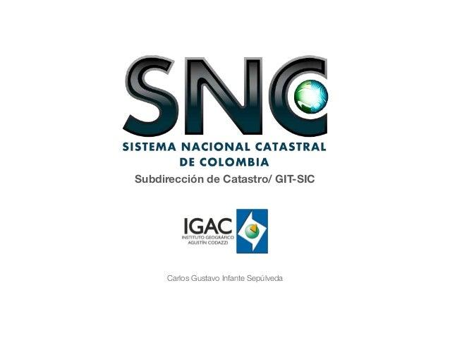 Subdirección de Catastro/ GIT-SIC  Carlos Gustavo Infante Sepúlveda