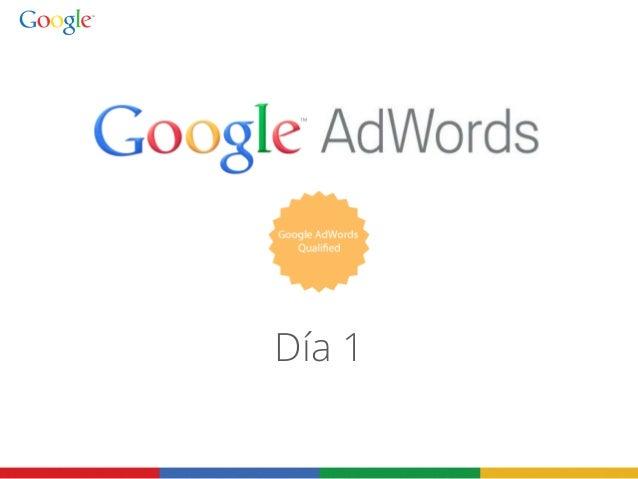 Presentación sobre la certificación de ad words
