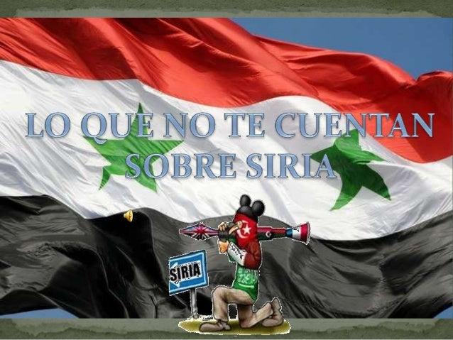 Según los medios occidentales y de países enemigos de Siria como Qatar y Arabia Saudí: Una revolución del propio PUEBLO SI...