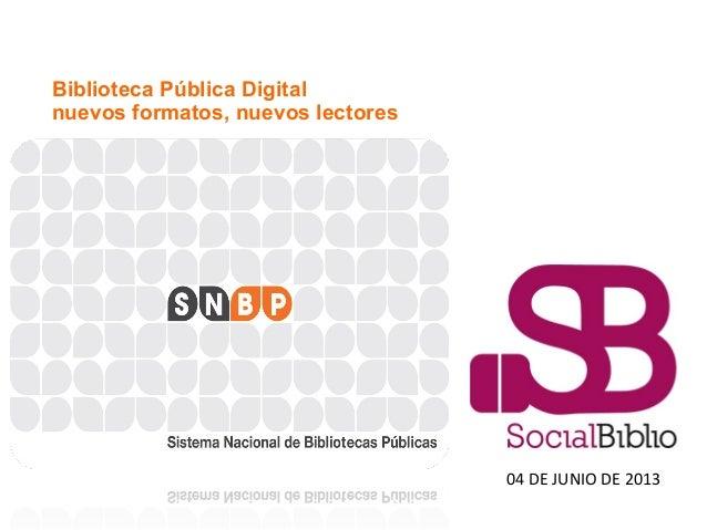 Biblioteca Pública Digital: logros y desafíos.