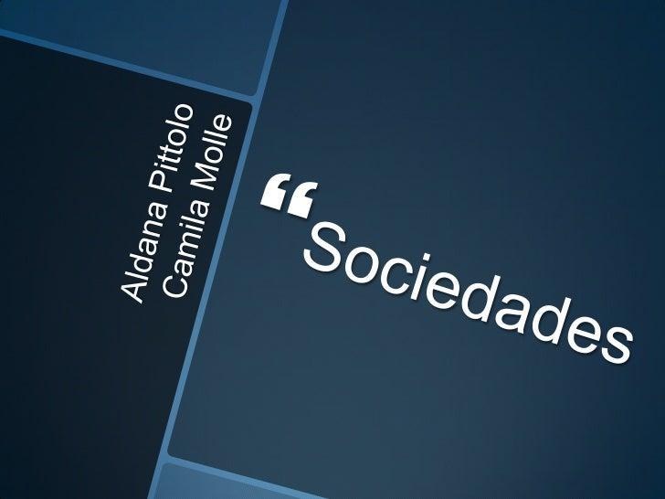 Presentacion sociedades