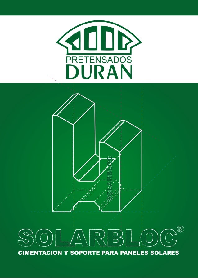 SolarBloc, soportes pre-fabricados de hormigón