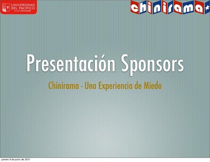 Chinirama - Presentacion Sponsors Generica