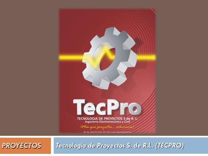 PROYECTOS Tecnologia de Proyectos S. de R.L. (TECPRO)