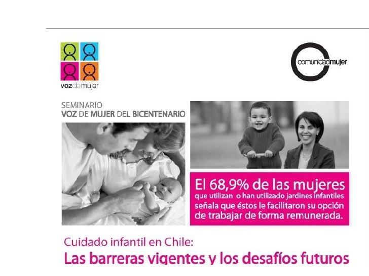 Presentación     I.    Alza sostenida de la participación laboral femenina en las últimas dos       décadas,… el increment...