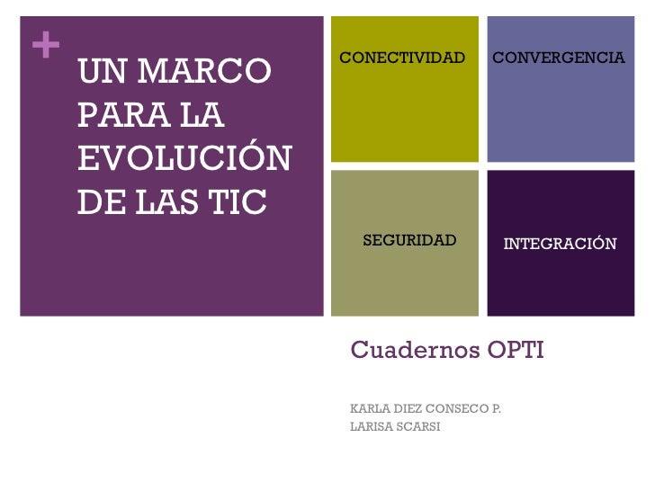 Cuadernos OPTI KARLA DIEZ CONSECO P. LARISA SCARSI UN MARCO PARA LA  EVOLUCIÓN DE LAS TIC CONECTIVIDAD CONVERGENCIA SEGURI...