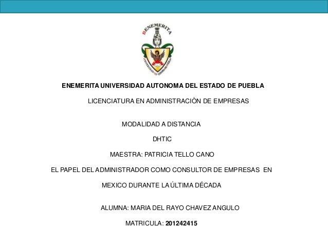 LA CONSULTORIA EN MEXICO