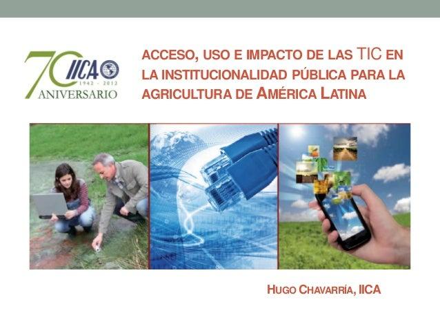 Las TIC en las instituciones públicas para la agricultura