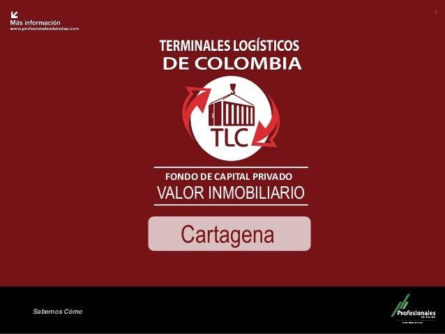 Fondo Inmobiliario  Sabemos Cómo  FONDO DE CAPITAL PRIVADO  VALOR INMOBILIARIO  1  Cartagena