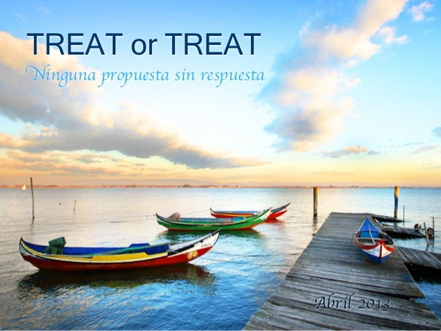 Presentación pública Treat or Treat