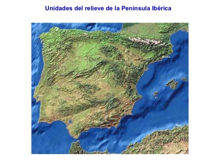 Unidades del relieve de la Península Ibérica