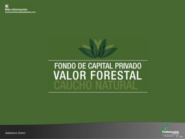 Fondo de Capital Privado – Valor Forestal